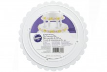 Wilton : Decorator Preferred Scalloped Edge Separator Plate - 8""