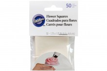 Wilton : Wax Paper Icing Flower Making Squares - Pack of 50