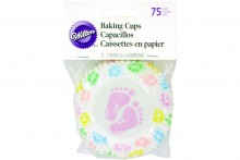 Wilton : Standard Baking Cases - Baby Feet - Pack of 75