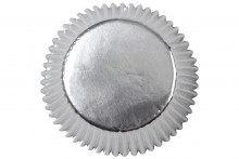 Wilton : Standard Baking Cases - Silver Foil - Pack of 24