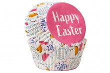 Wilton : Standard Baking Cases - Happy Easter - Pack of 75