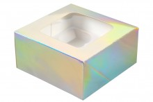 Wilton : 4 Count Cupcake Boxes - Iridescent - Pack of 3