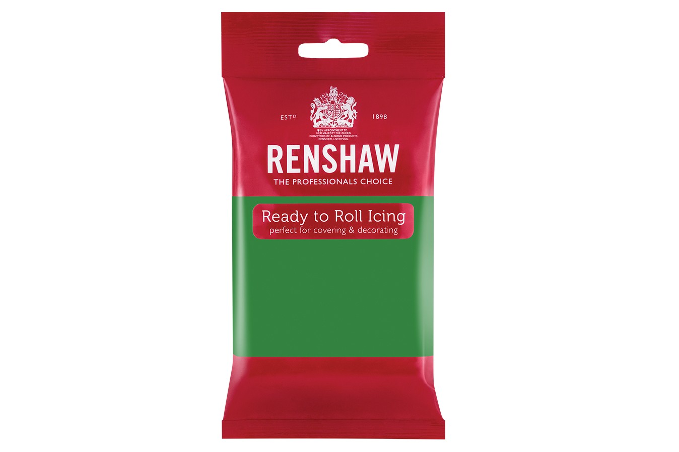 Renshaw Rtr Sugar Paste 500g Lincoln Green Doric Cake